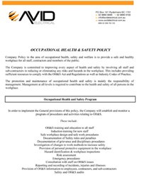 view our ohs policy pdf 136kb